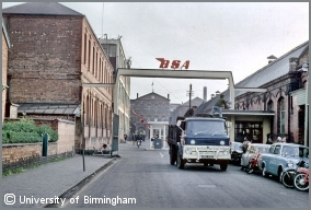 BSA's factory at Small Heath in 1968