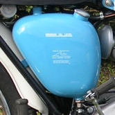 The T20B oil tank is actually a BSA C15/B40 part.