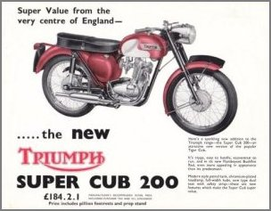 Advert for T20B Super Cub. Note the price of £184.